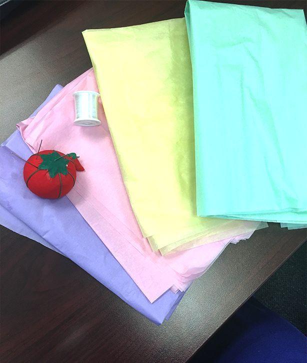 DIY Tissue Paper Flower Garland  - Flower Making - #DIY #FLOWER #GARLAND #MAKING #Paper #Tissue #paperflowergarlands