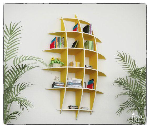 Varen Boekenkast, Cnc Snijden Sjabloonbestand   Gesneden 3d Model Zwevende  Planken, Opknoping Boekenplank, Boekenkasten, Muur Plank, Woonkamer