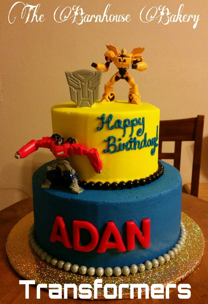 Transformers Birthday Cake Pinteres