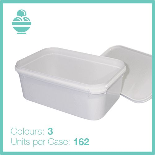 1 Litre Tamper Evident Rectangular Container and Lid 1 to 10 Litre