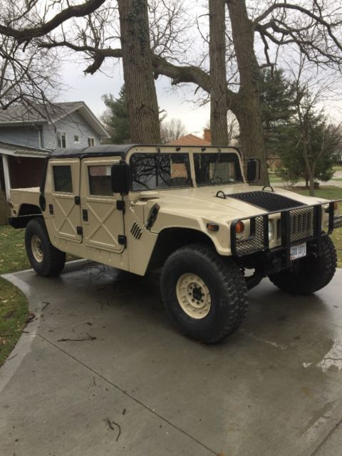 hummer h1 humvee 6 5 turbo diesel street title for sale photos technical specifications. Black Bedroom Furniture Sets. Home Design Ideas