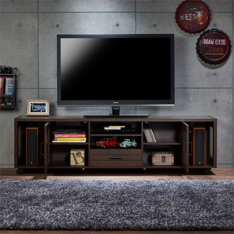 Furniture Of America Sloan Industrial 70 Inch Wood Tv Stand In