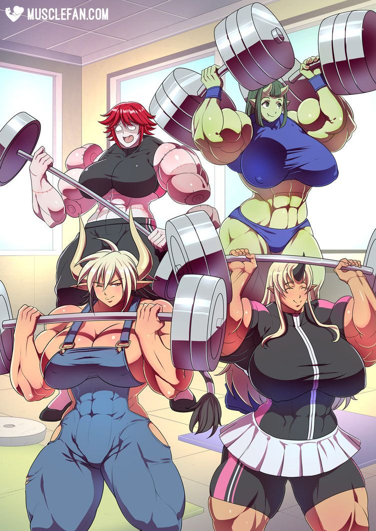 Muscular Monster Girls By Muscle Fan Comics Character Art Female Muscle Growth Monster Girl