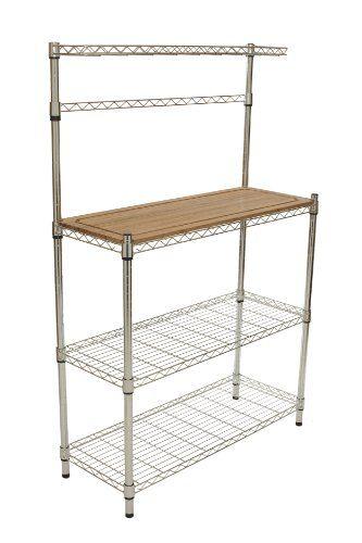 Best Kitchen Cart Trinity Ecostorage Bamboo Bakers Rack