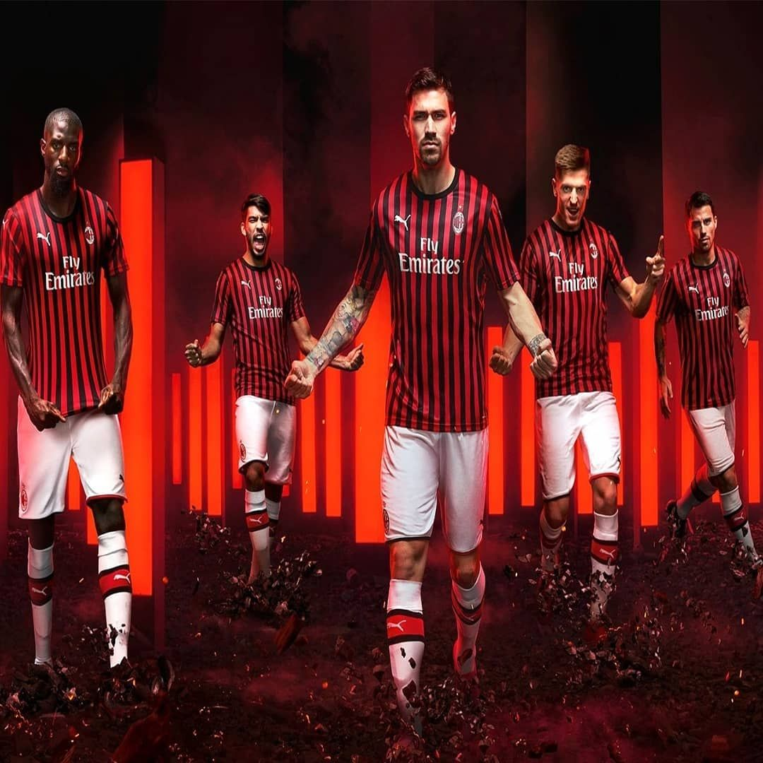 19//20 AC Milan Soccer Suits Jerseys Socks Kids Football Socks For Boys Adults