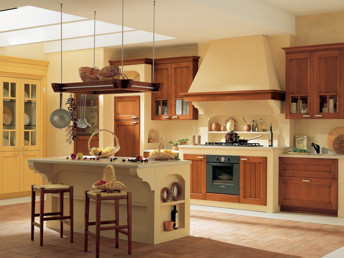 Cucina in Legno di Frassino e Ciliegio - Village | Arrital Cucine ...
