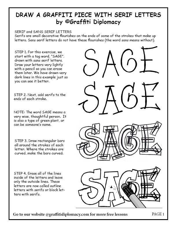 Draw A Graffiti Name With Serif Letters | Graffiti names ...How To Draw Graffiti Art Step By Step