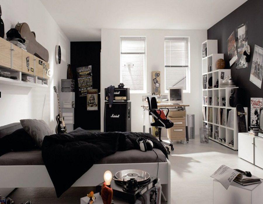 surprising black teenage boy bedroom ideas | Pin on black-white