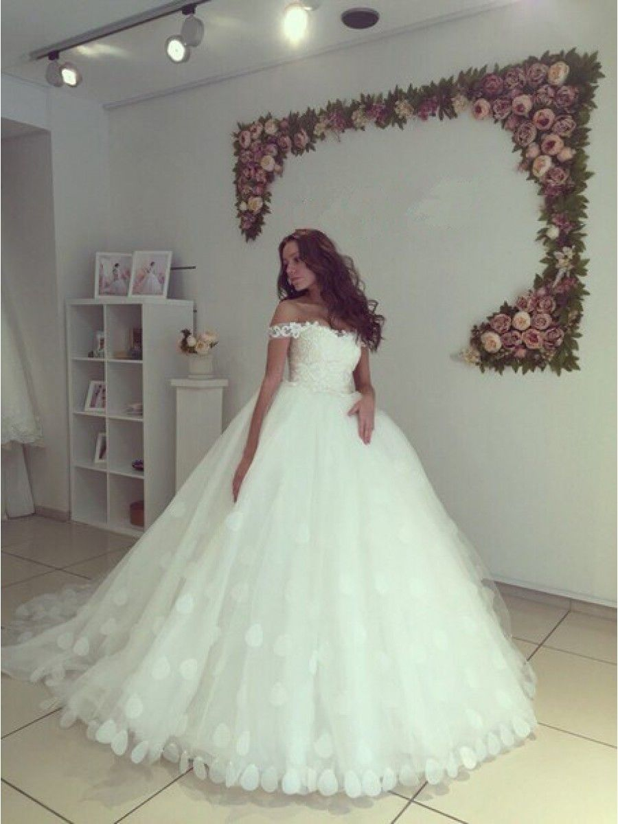 Ball gown offtheshoulder wedding dresses bridal gowns