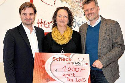 upart schenkt Kindern ein Lachen - 1000 Euro für die Aktion Herzkinder