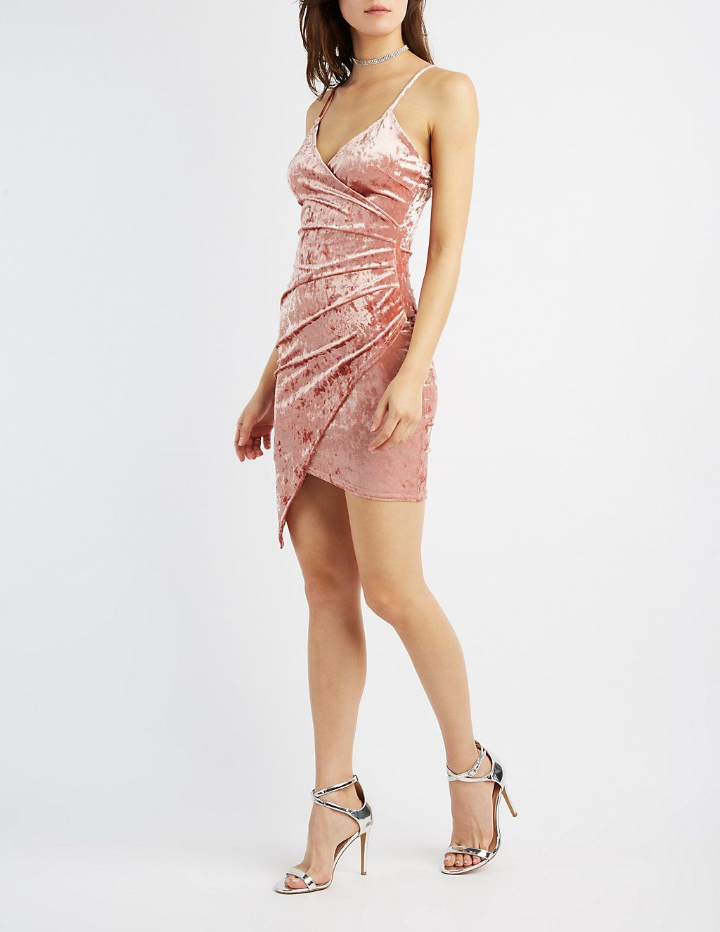 Crushed Velvet Wrap Dress   Charlotte Russe   Cute Outfits   Pinterest