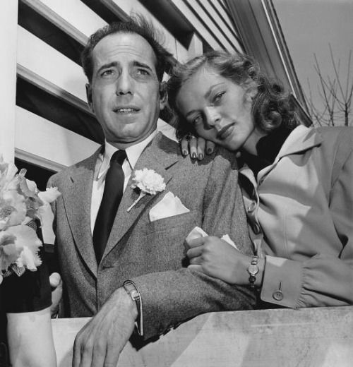 Humphrey Bogart met Lauren Bacall while filming To Have and Have Not, a 1944 film loosely adapted from the Ernest Hemingway novel. The two began an affair; Bogart was still married to his third wife, at the time. By February of 1945, Bogart had called off his marriage and was preparing to wed Bacall—which he did just a few months later, on May 21, 1945. The couple remained married until Bogart's death from cancer in 1957.