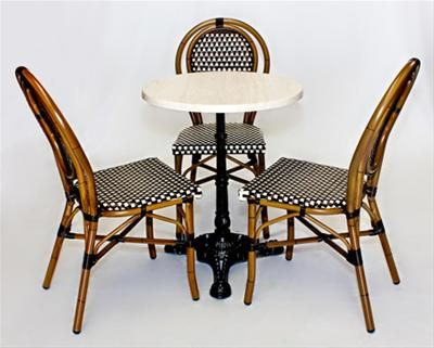 Charmant Parisian Cafe Chairs And Table