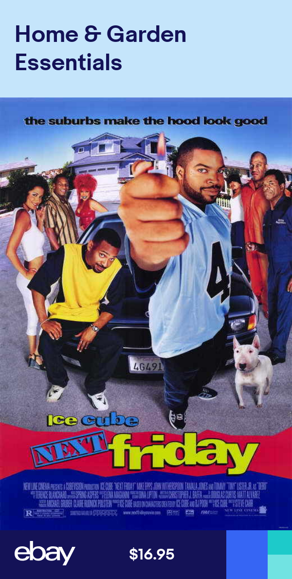 Next Friday Movie Poster Licensed New Usa 27x40 Theater Size Ice Cube Next Friday Movie Friday Movie Movie Posters