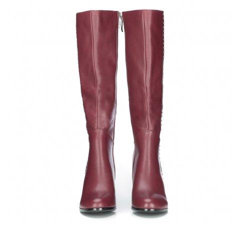Bordowe Kozaki Damskie Ze Skory Licowej Wittchen 87 D 950 Womens Knee High Boots Boots Knee High Boots