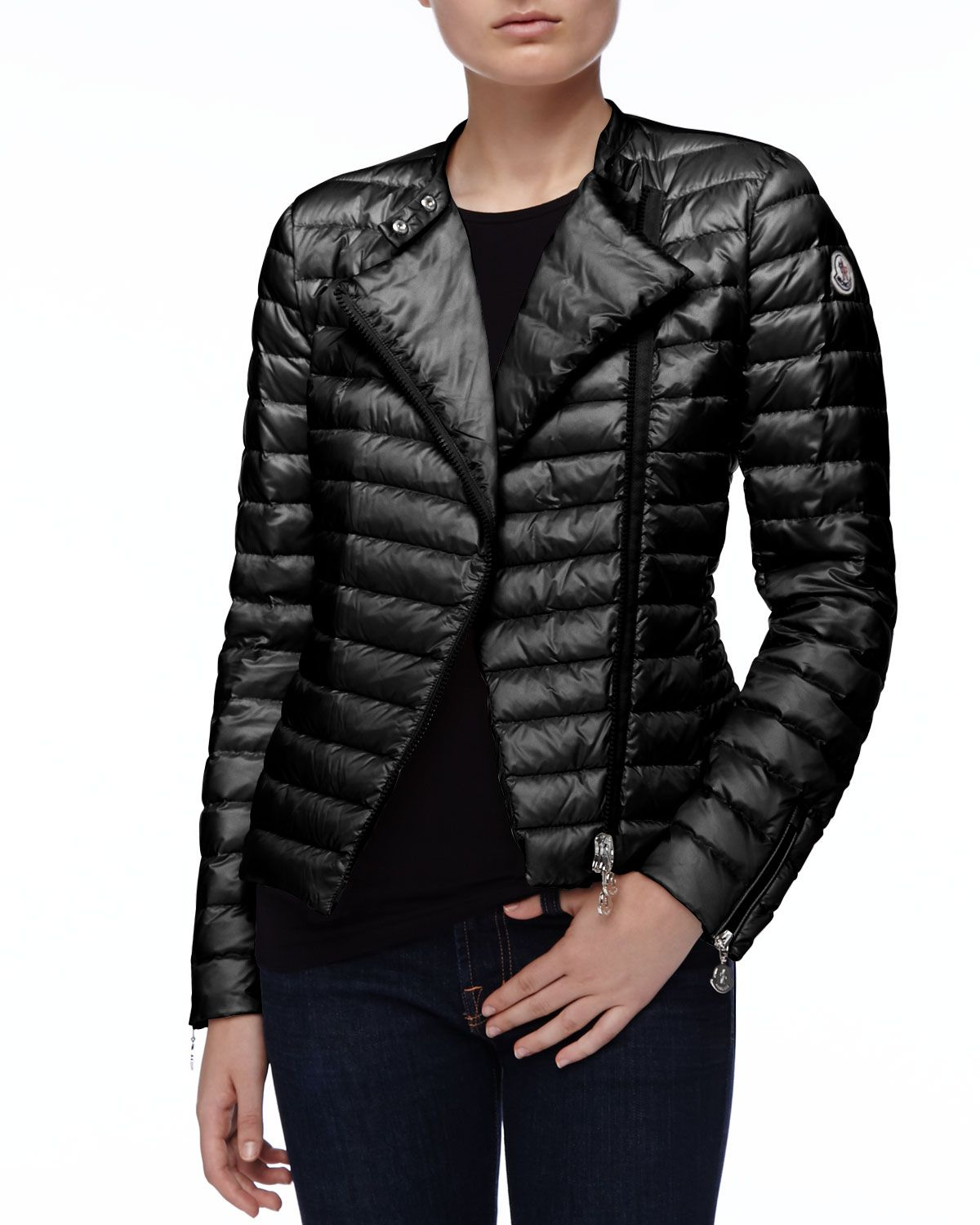 ce3e85a76 Asymmetric-Zip Puffer Jacket Black | Jacket and Coats | Puffer ...
