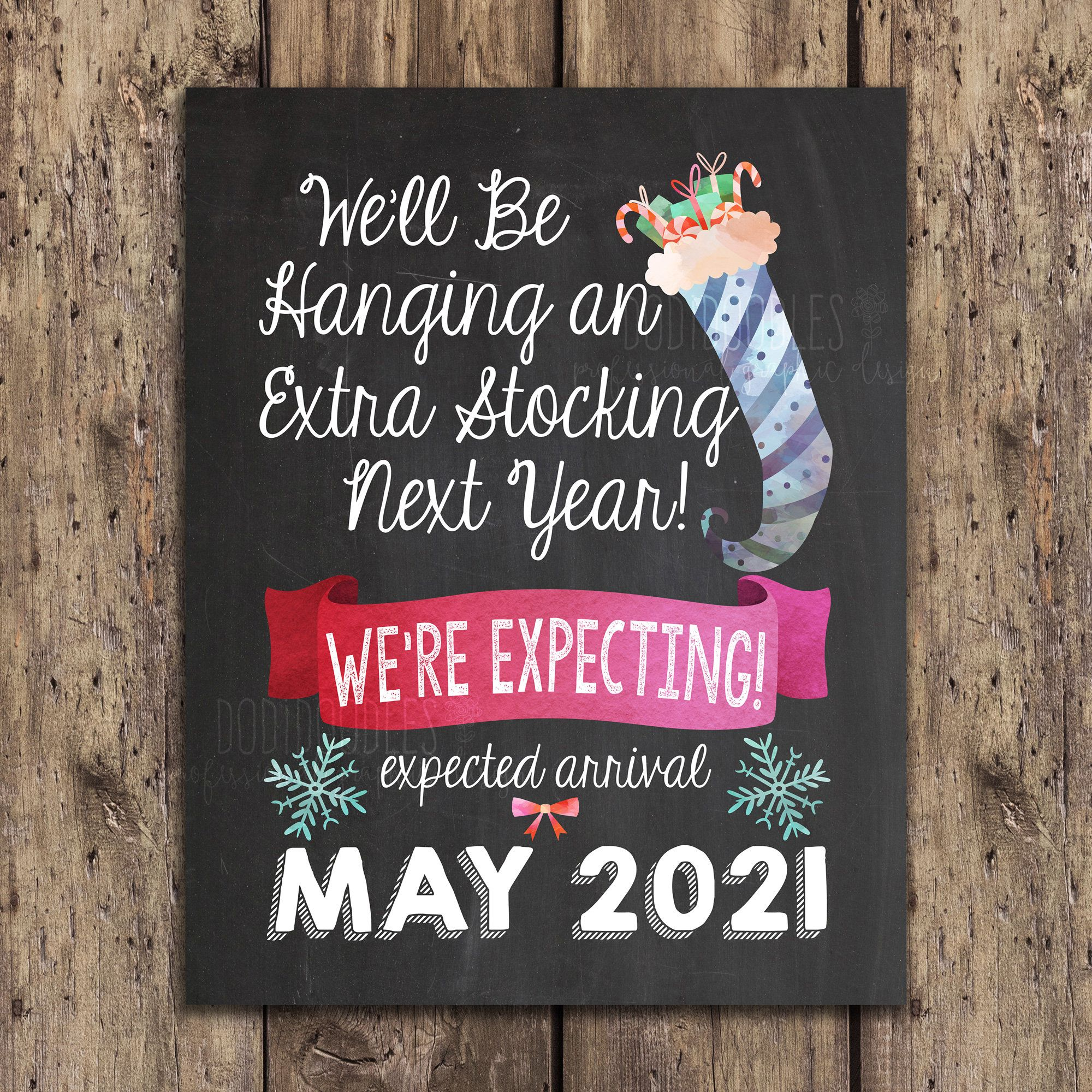 Details about  /Promoted to Peepers Established Year 2021 Baby Pregnancy Announcement Gift for