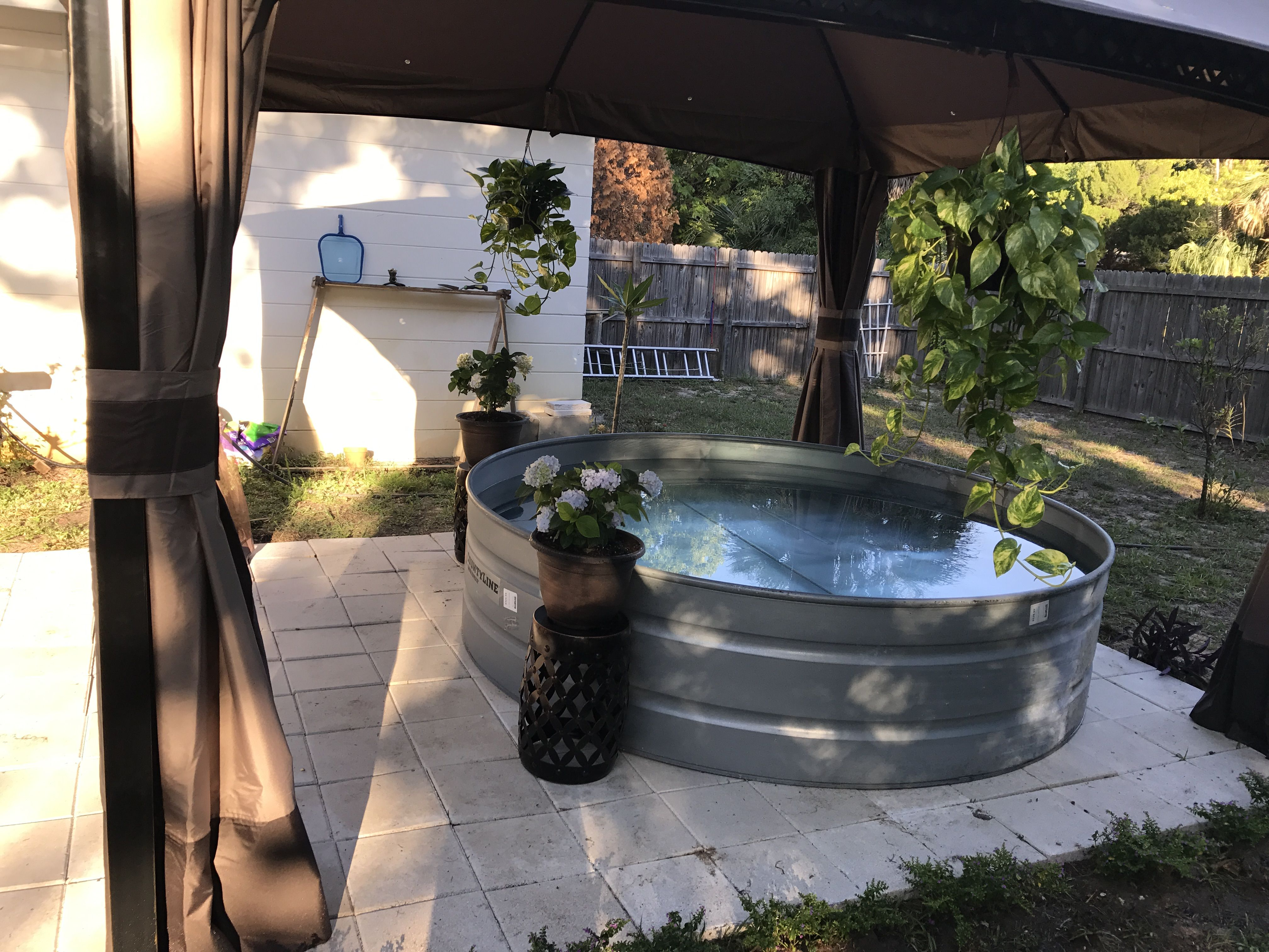Diy stock tank pool with canopy tank pool stock tank