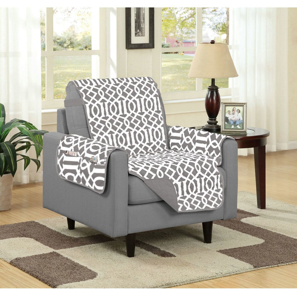 Luxury Gray Microfiber Chair