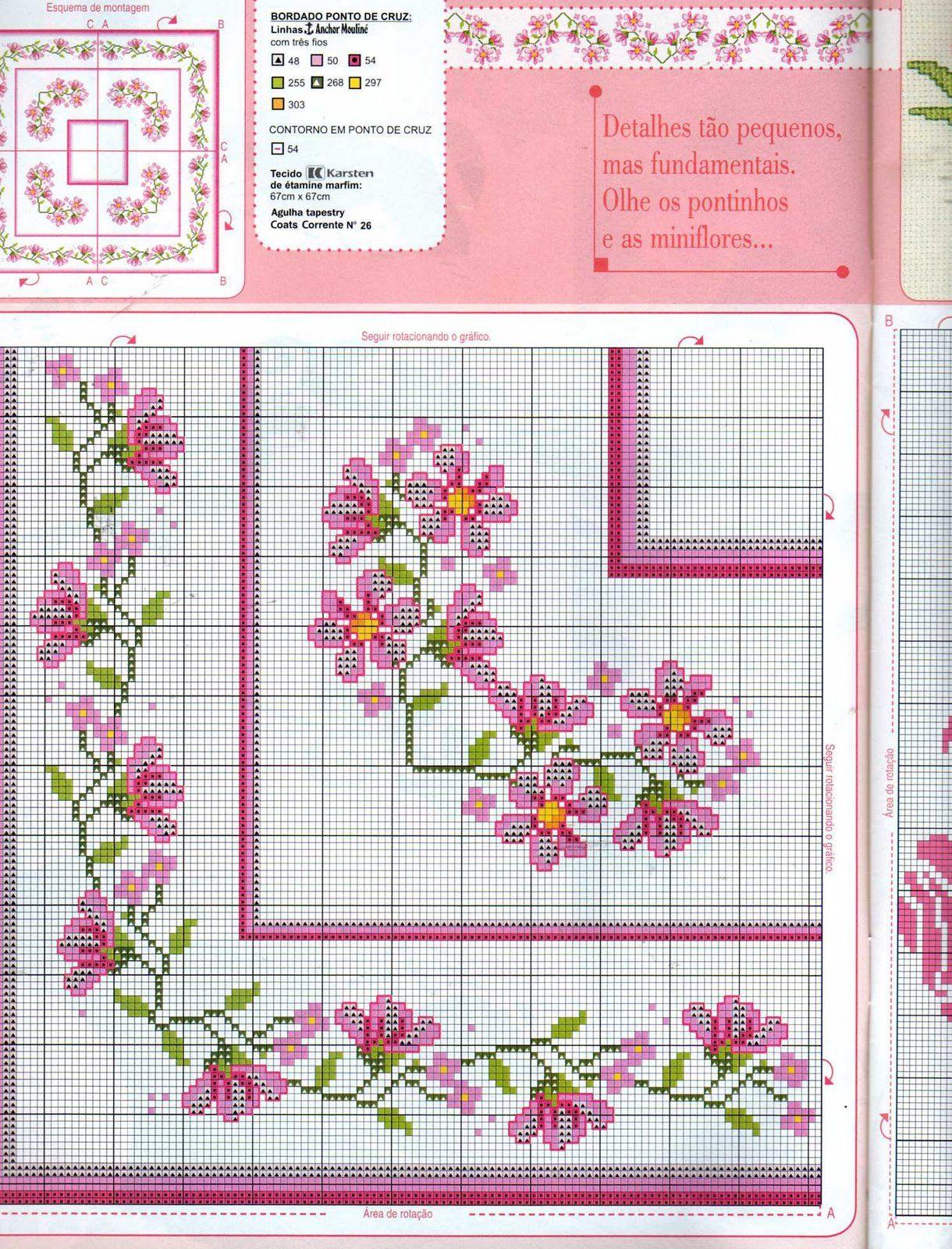 78 Graficos De Flores Em Ponto Cruz Para Imprimir Projetos De