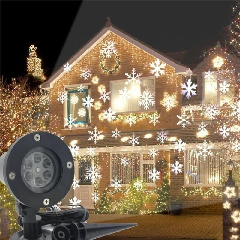 2020 Christmas Decoration Led Snowflake Projector Light White And