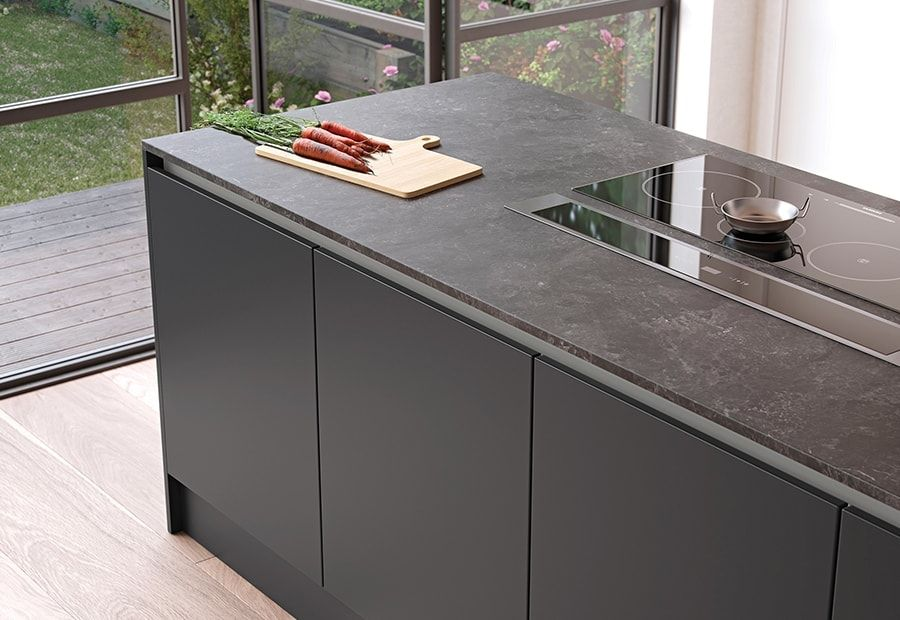 Best Zola Soft Matte Light Grey And Graphite Worktops Are 400 x 300