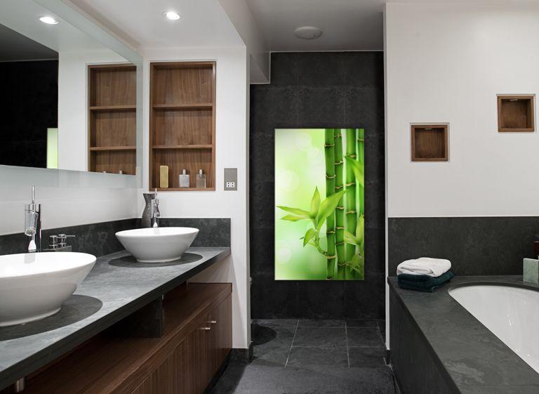 Glasbilder badezimmer - Duschkabine ruckwand ...