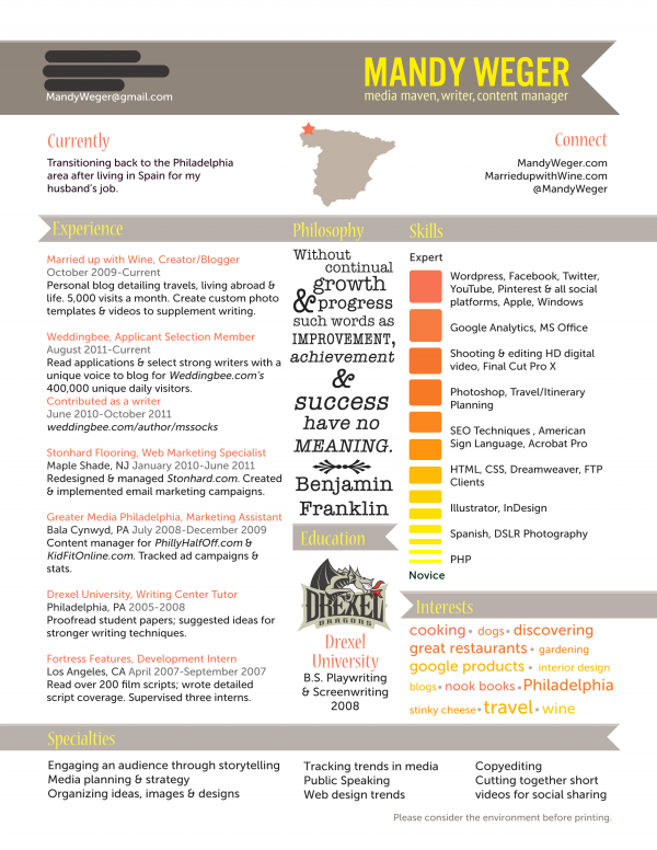 resume design | Projects to Try | Pinterest