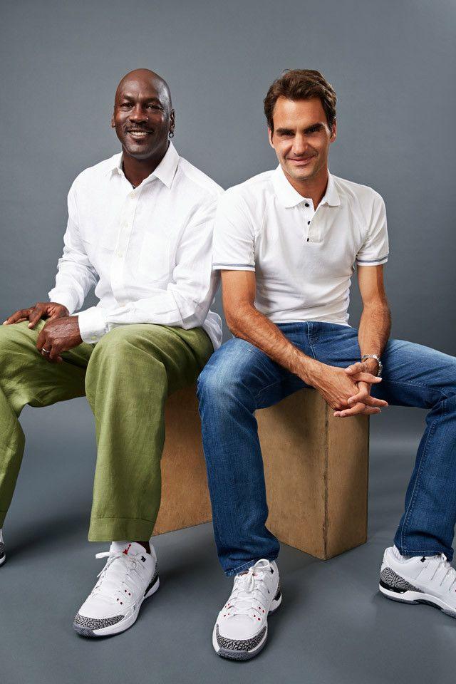 Michael Jordan Y Roger Federer El Encuentro De Dos Leyendas