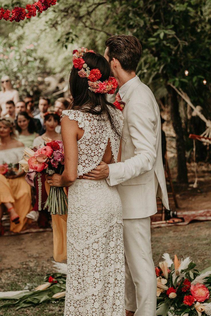 """Elin & Olivers """"Mexican Vibes"""" Destination Wedding in Spanien #hochzeitskleiderh…"""