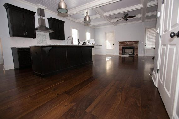 Wide Plank Black Walnut Hardwood Flooring By Eutree On Etsy - Black walnut hardwood flooring