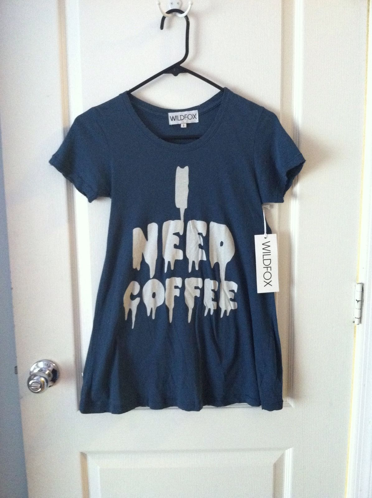 WILDFOX Couture I Need Coffee T Shirt 49.99 on Ebay T