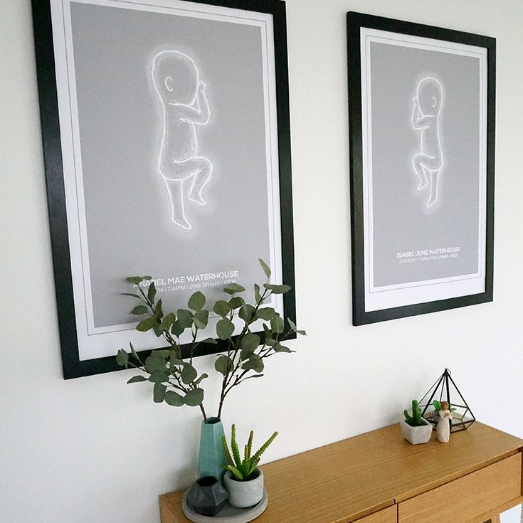 Kmart ornaments with 61x91cm Kmart frames with scaled 1:1 baby ...