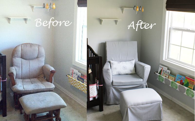 Glider Make Over Rocking Chair Nursery House Joy Glider Rocker