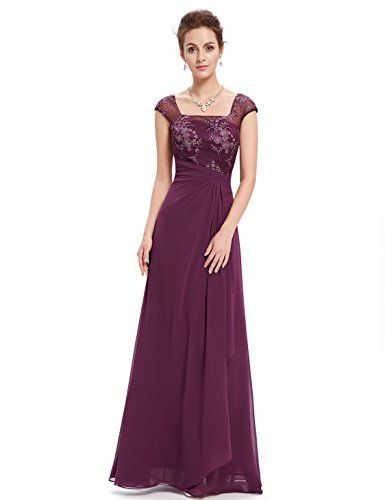 Ever Pretty Womens Semi Formal Wedding Guest Dress 10 US Purple -- Click  image to review more details. 0678646fe6