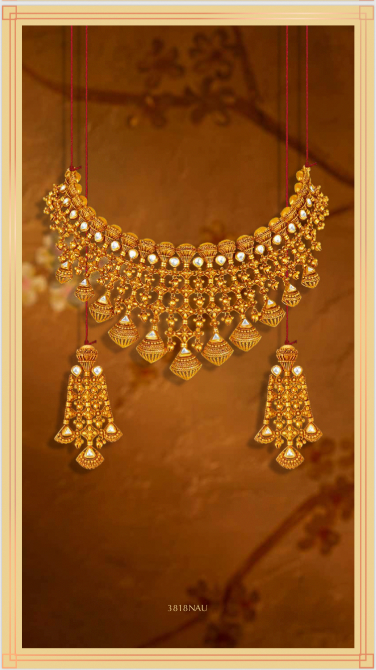 Tanishq Bridaljewelrygoldindian Gold Fashion Necklace Gold Necklace Indian Bridal Jewelry Bridal Gold Jewellery