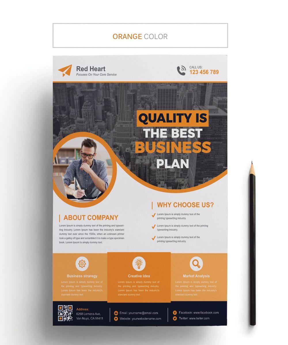marketing business flyer corporate identity template website