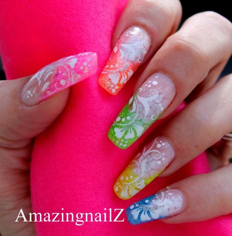 Airbrush nail art nail designs pinterest airbrush nail art airbrush nail art prinsesfo Choice Image