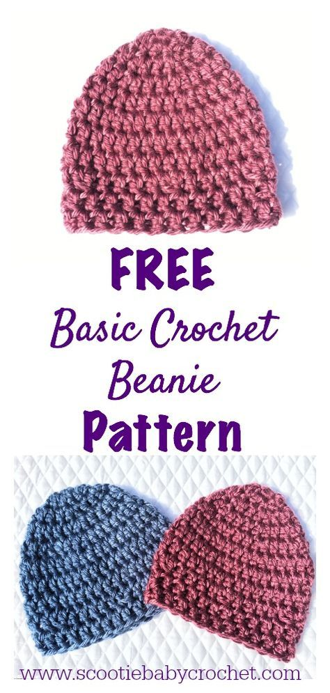 Quick And Easy Basic Beanie Knitting Patterns Pinterest