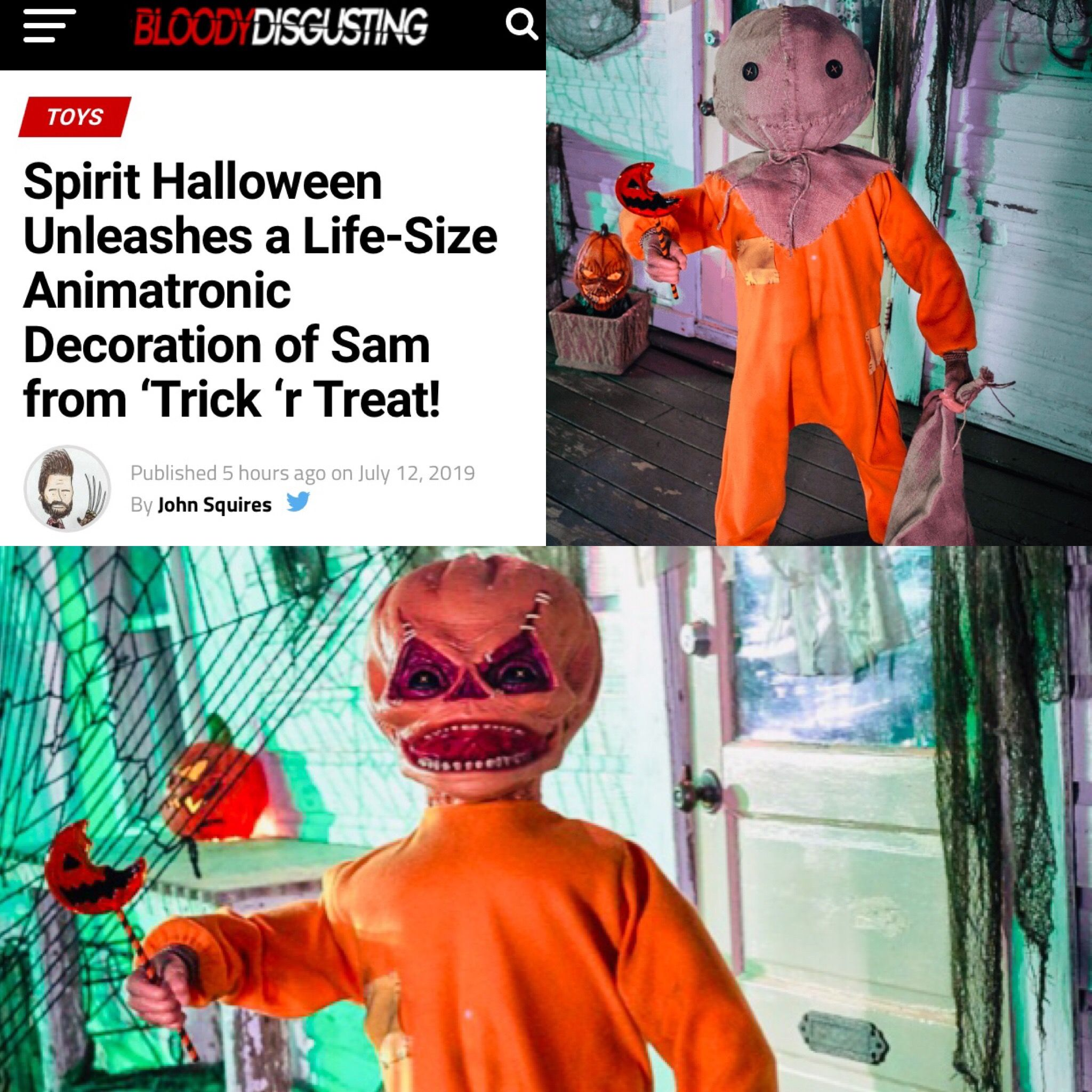 Sam/Trick R Treat Animatronic From Spirit Halloween, Fall