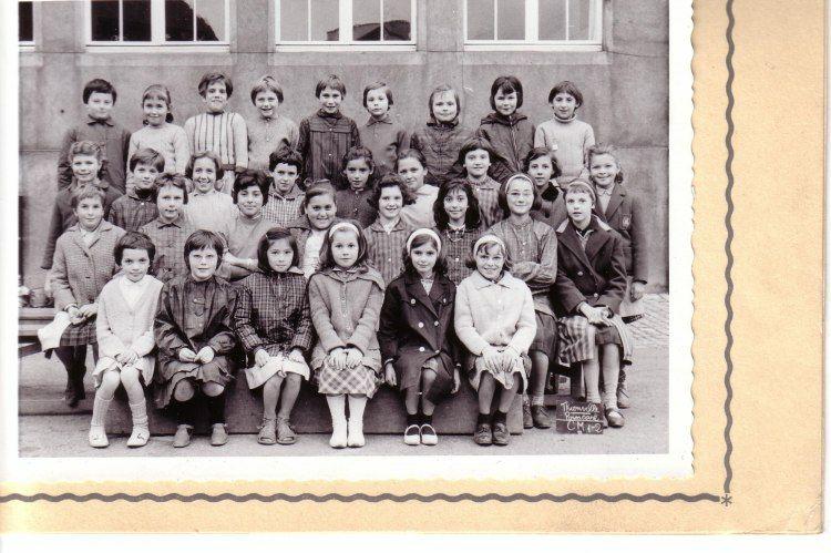 Photo de classe CM1/CM2 de 1963, Ecole Poincare (thionville)