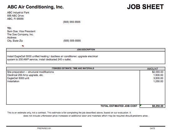 14 job sheet templates printable word excel pdf