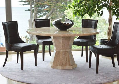 Marcello Round Dining Table 1300 Mm Marble Dining Table Decor
