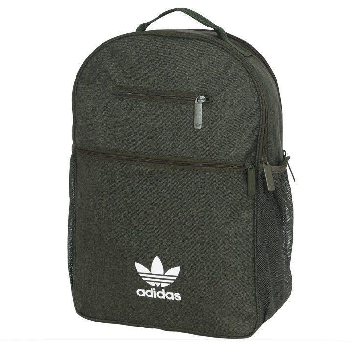 a0e3b9ca505d adidas Originals Essential Casual Backpack Trefoil Khaki School Bag Sport  BQ8114  adidas  Backpack