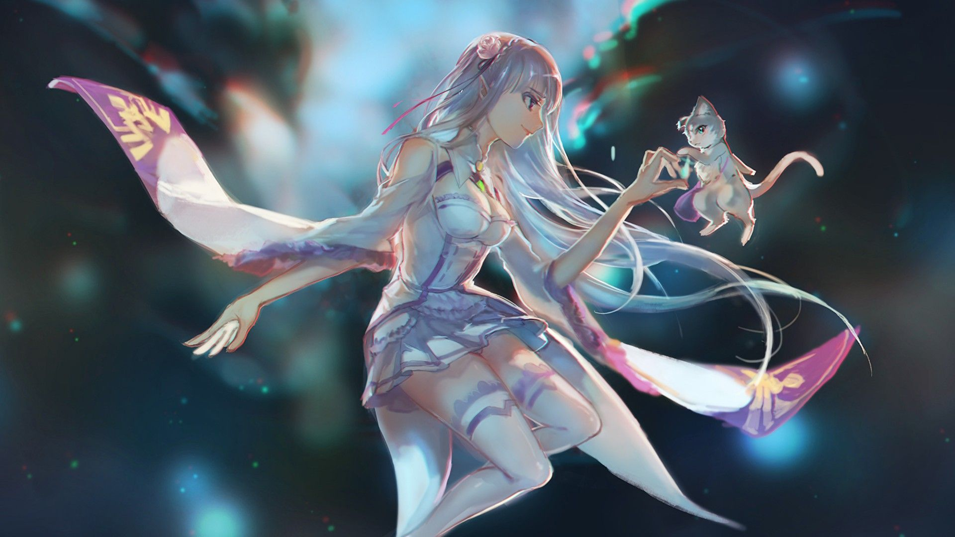 Re Zero Wallpaper Emilia | Re:Zero | Re zero wallpaper, Anime art, Anime