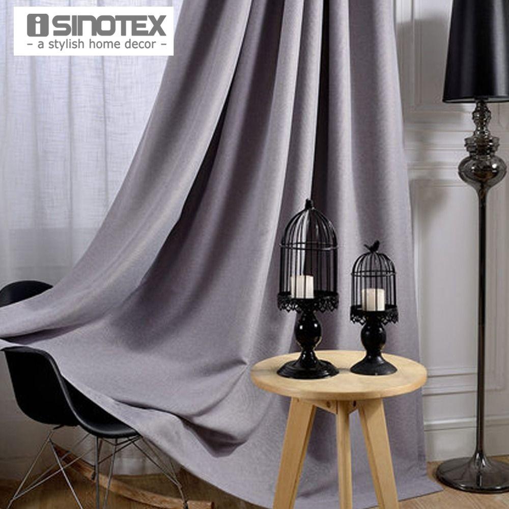 Isinotex flat window curtain solid blackout polyesterulinen