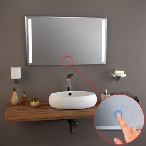 Details Zu LED Kristal Spiegel Badspiegel Sensor Wandspiegel - Fliesen mit facettenschliff