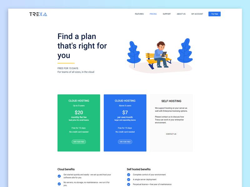 Trexa Pricing Page In 2020 Fun Website Design Web App Design Web Design