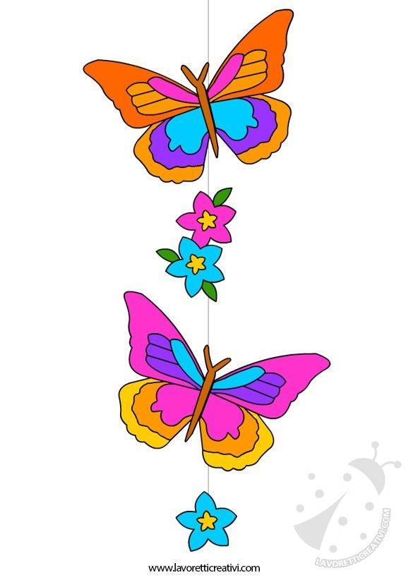 Decorazioni di primavera decorazione con farfalle e fiori for Decorazioni da appendere al soffitto
