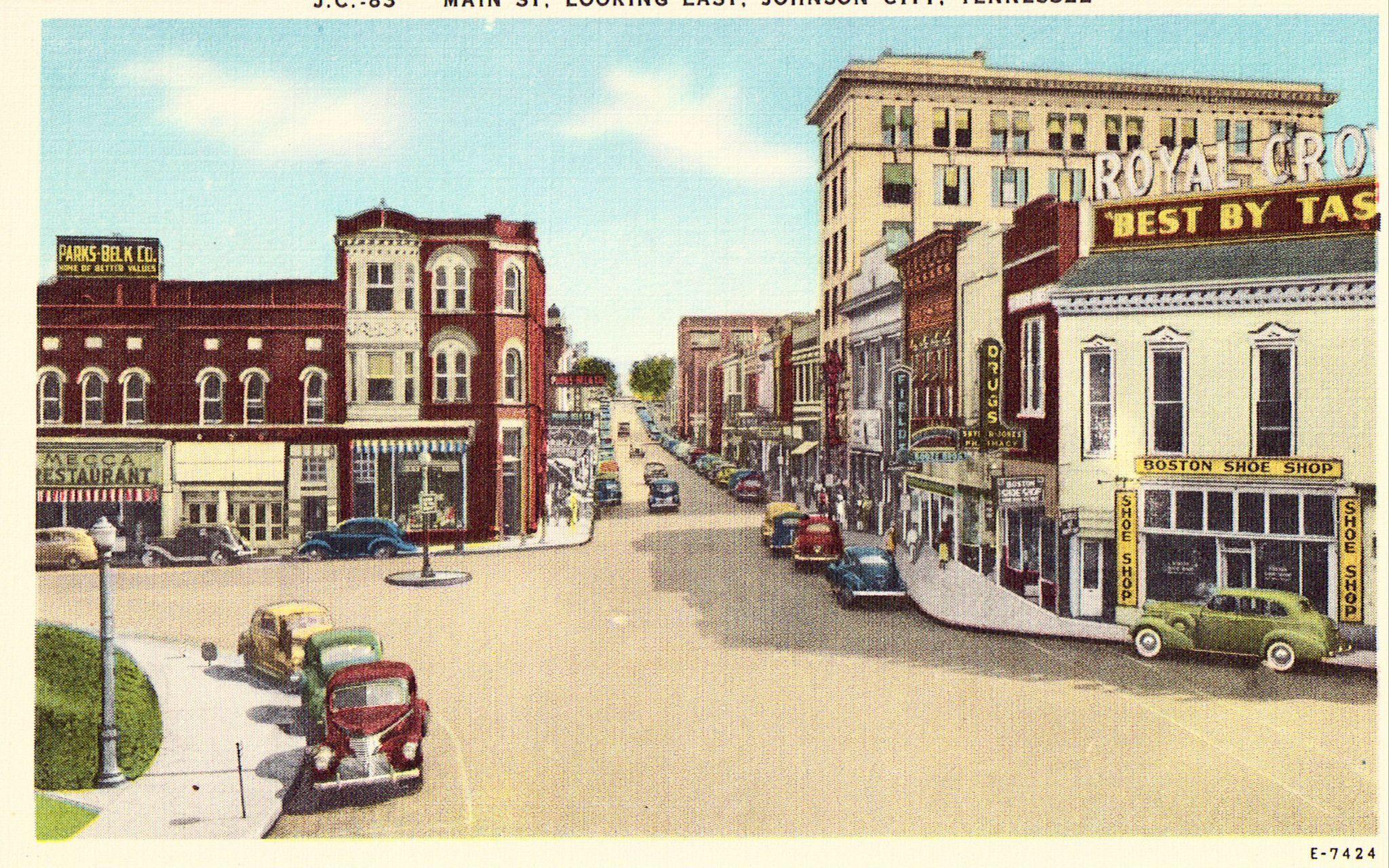 Main Street Looking East Johnson City Tennessee Johnson City Tennessee Johnson City Tennessee